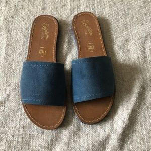 Seychelles Suede slip on sandals